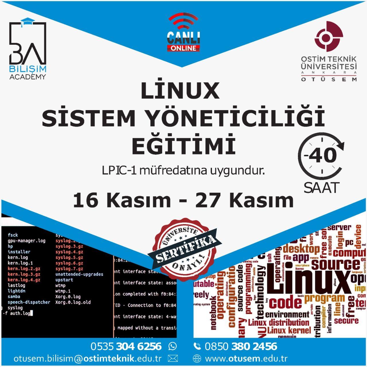 2.Dönem-Linux Sistem Yöneticiliği Eğitimi